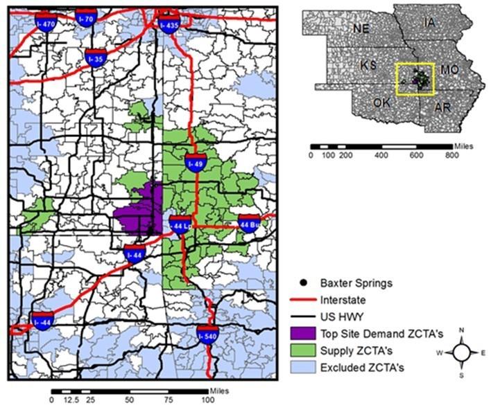 Geospatial economics of the woody biomass supply in Kansas